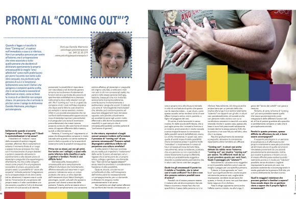 "PRONTI AL ""COMING OUT""'?"